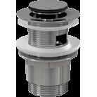 Донный клапан для умывальника AlcaPlast A39 цельнометаллический с малой заглушкой