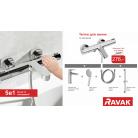 Набор смесителей для ванны Ravak Termo 5 в 1, 70320277