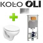 Комплект инсталляция OLI 80 Diamante Evo 600151 + унитаз KOLO Idol M1310000U с сидением полипропилен