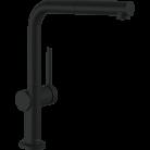 Смеситель с выдвижным душем Hansgrohe TALIS M54 черный матовый, 72845670